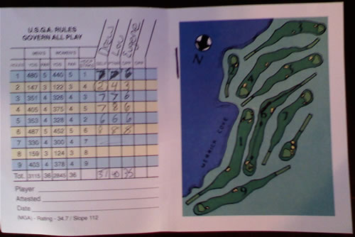 Scorecard from Merrick (Drew, My Dad and I)